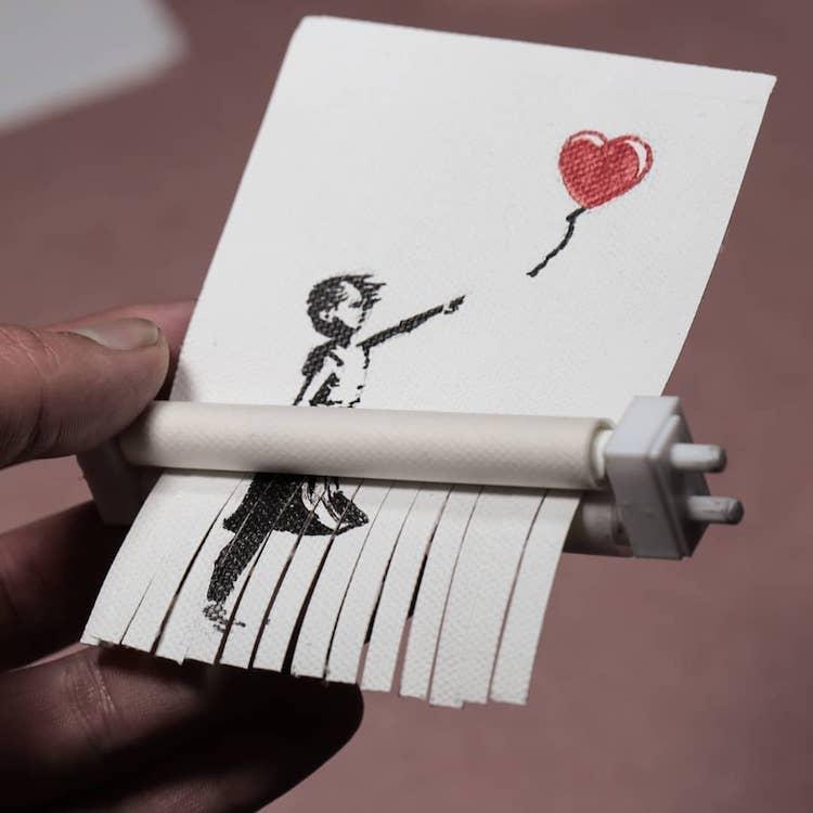 Mini Banksy Art Shredder