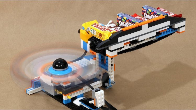 A Whimsical Lego Vortex Halloween Candy Launcher