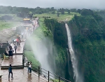 Waterfall Flowing in Reverse