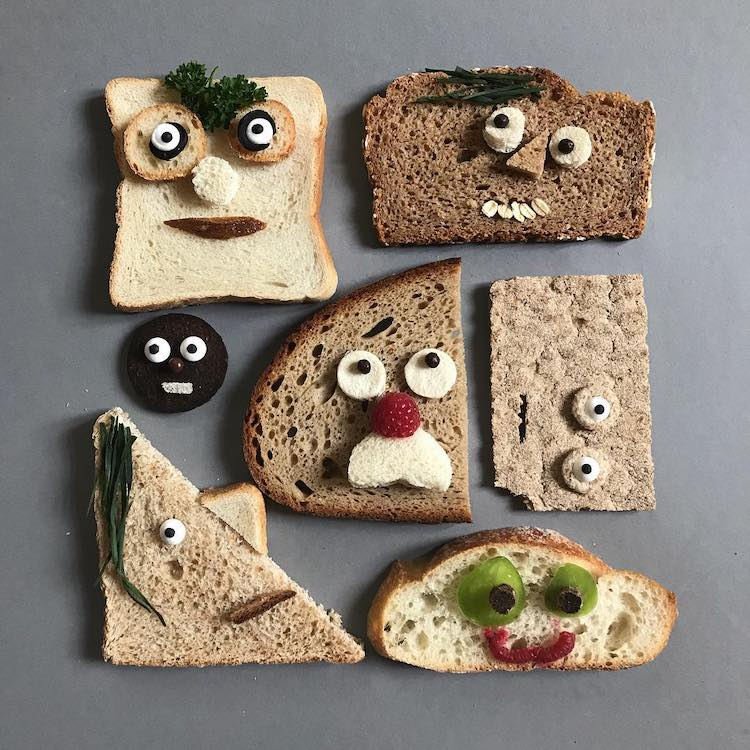 Wonderfully Whimsical Faces Made Out of Bread