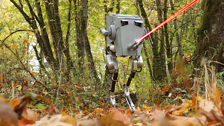 OSU Engineers Dress Their Bipedal Ostrich Inspired Robot as a Star Wars AT-ST for Halloween 2018
