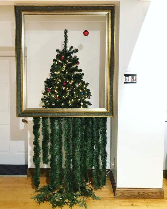 Christmas Tree Banksy Art Frame Shredder