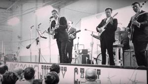 Johnny Cash Performing at Folsom Prison