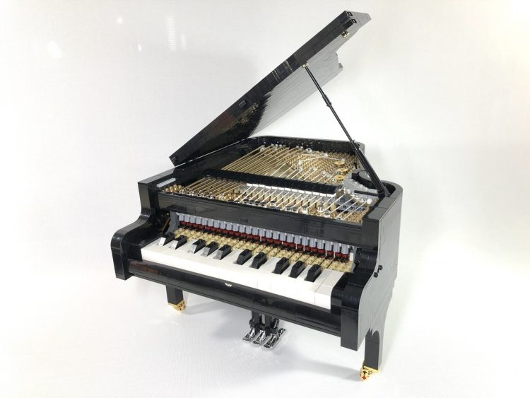 LEGO Concert Grand Piano Open