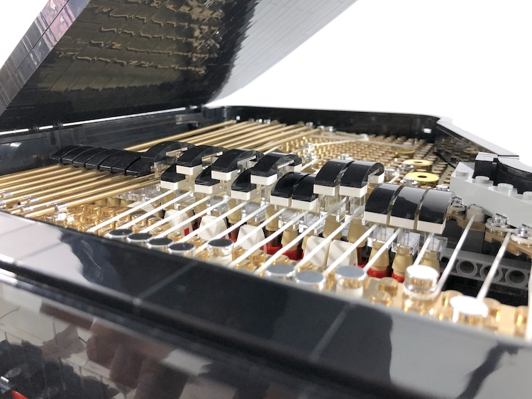 LEGO Concert Grand Piano Strings and Hammers