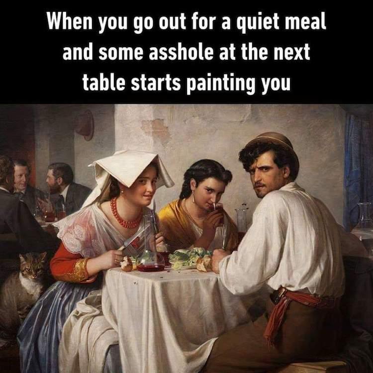 Painting People Eating