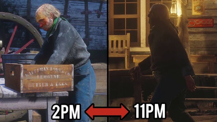 Following Non-Player Characters (NPCs) Around in Red Dead Redemption 2 to See How They Live Their Lives