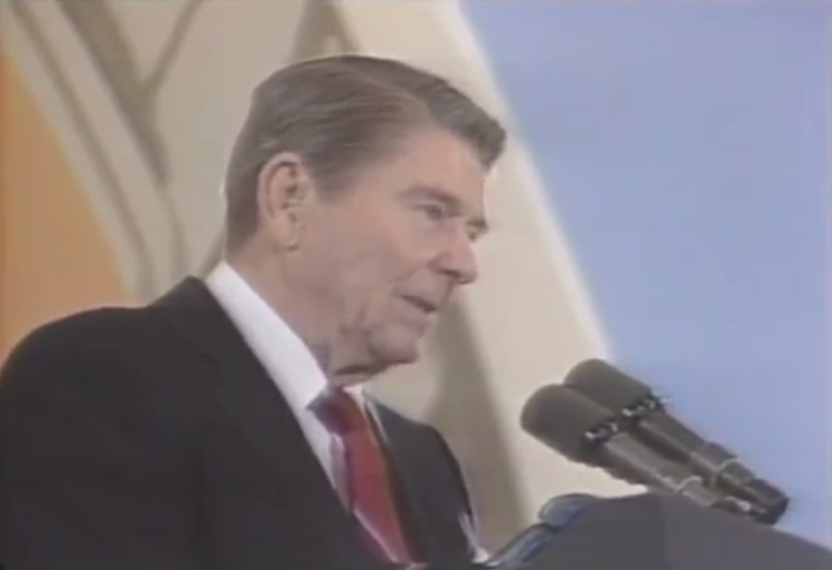 Ronald Reagan Missed Me - Ronald Reagan Quips 'Missed Me' in West Berlin Speech When a Popped Balloon Sounds Like Gunfire