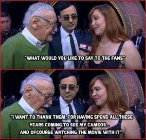 Stan Lee Thanks Fans