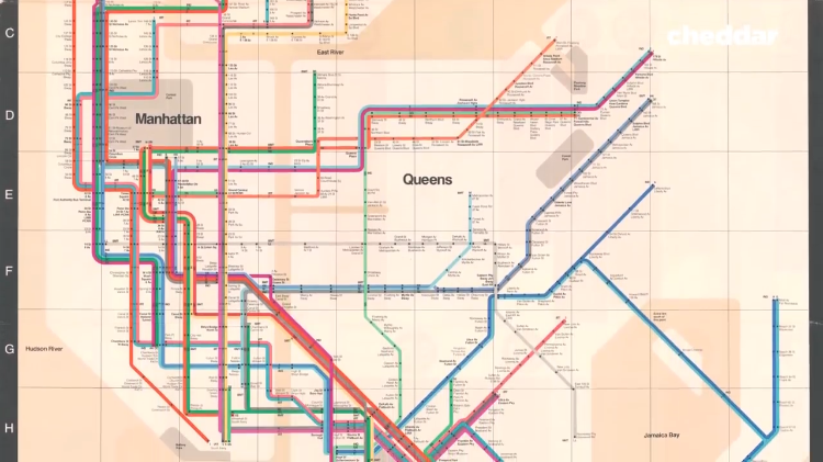 Subway Map In Manhatten.Why New Yorkers Preferred A Less Attractive But Properly Scaled