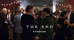 The End Closing Credits