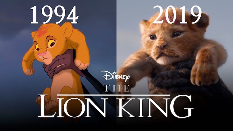 'The Lion King' Side-by-Side Comparison of Original 1994 Film and 2019 Computer Animated Remake