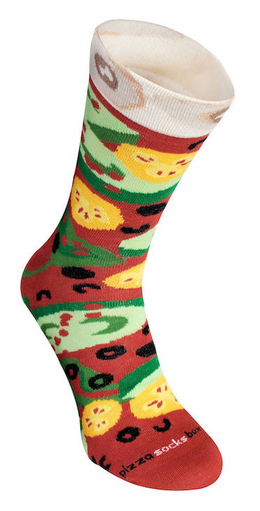 Veggie Pizza Sock