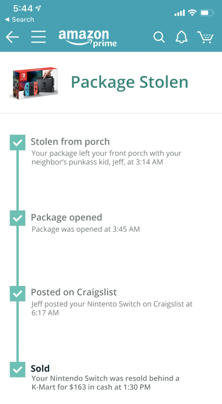 Amazon Stolen Package Tracking