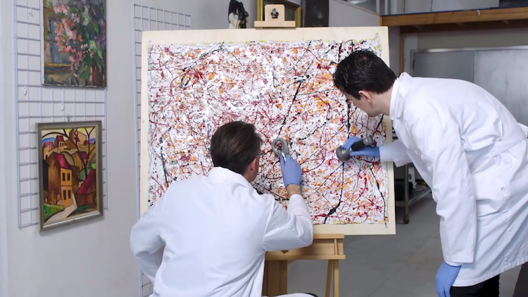 Anatomy of a Fake Jackson Pollock Forensic Analysts