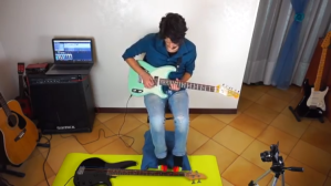 Davidlap Play Bass With Feet Guitar With Hands