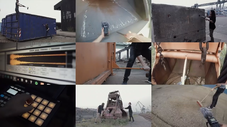 A Brilliant Highly Rhythmic Music Sample Created From Abandoned Industrial Equipment on the Docks