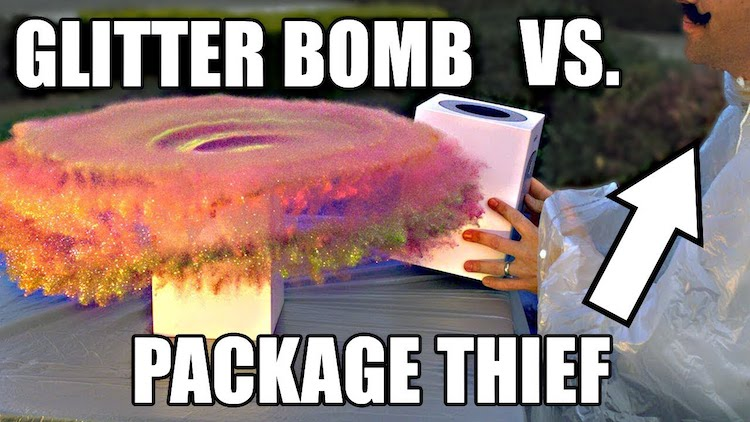 Glitter Bomb Vs Package Thief Mark Rober