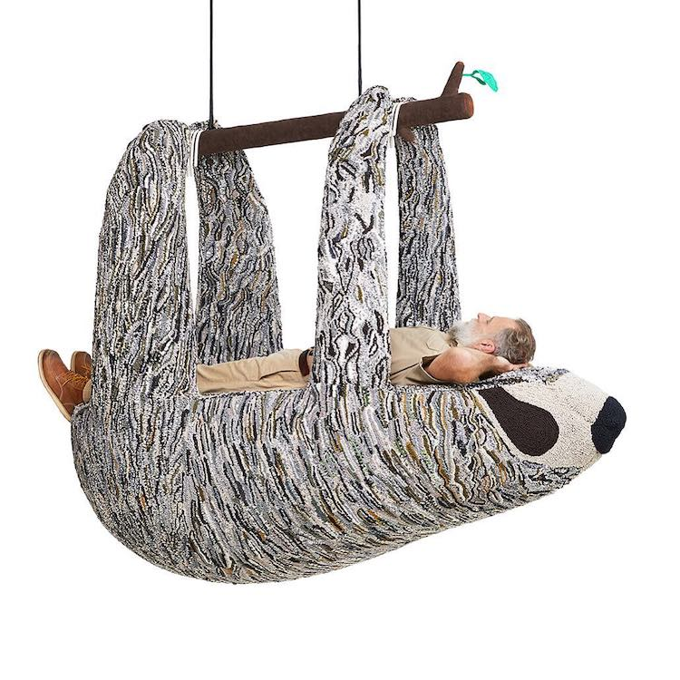 Hand Crafted, Comfy Looking Seating Sculptures Depicting Endangered Species by Designer Porky Hefer