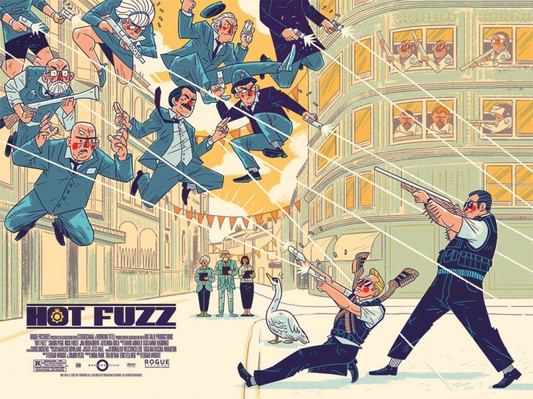 Hot Fuzz Logan Faerber Mondo Design