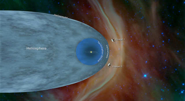 The NASA Voyager 2 Probe Exits the Heliosphere to Enter Interstellar Space 11 Billion Miles From Earth