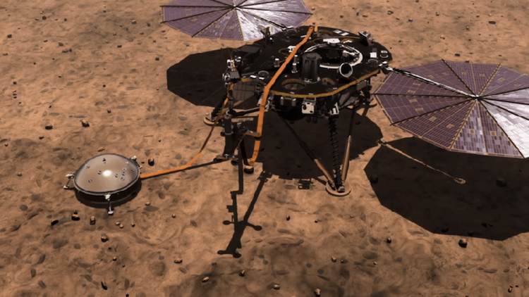 The NASA InSight Lander Documents the Sound of Wind Upon the Surface of the Mars Elysium Planitia