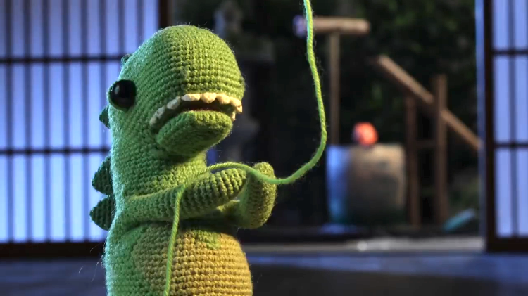 Lost and Found Crocheted Dinosaur