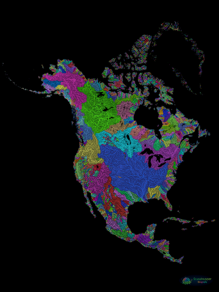 North America River Catchments