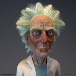 Rick Sanchez Rick and Morty Stylized Portrait