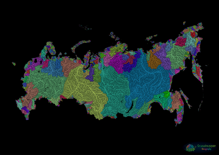 Russia Rivers Catchment