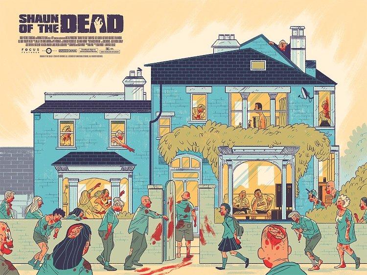 Shaun of the Dead Faerber Poster Mondo Tees
