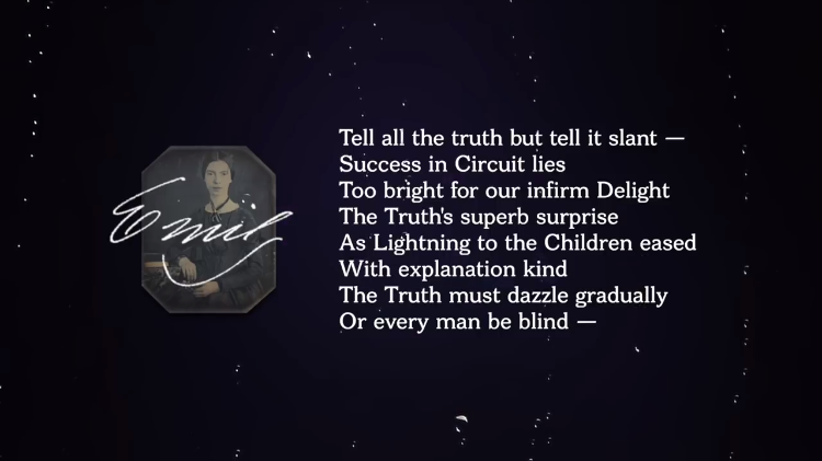 Analyzing the Cleverly Contradictory Wordplay in Emily Dickinson's Poem 'Tell All the Truth But Tell It Slant'