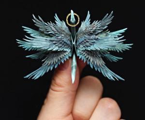 Turquoise Origami Crane