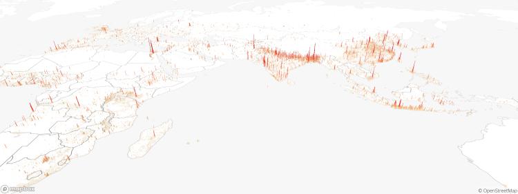 3D Global Density Asia