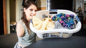 Amy Brooks Folding Laundry No Arms No Legs