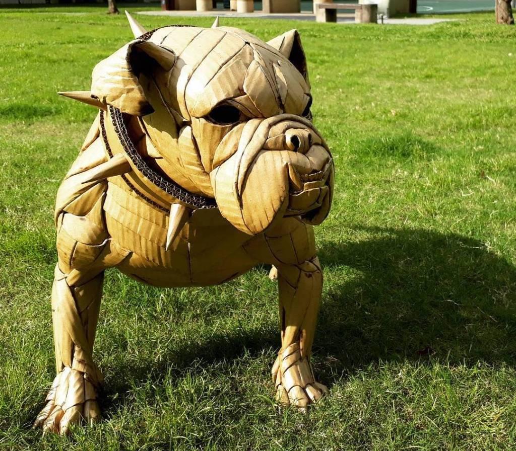 Cardboard English Bulldog
