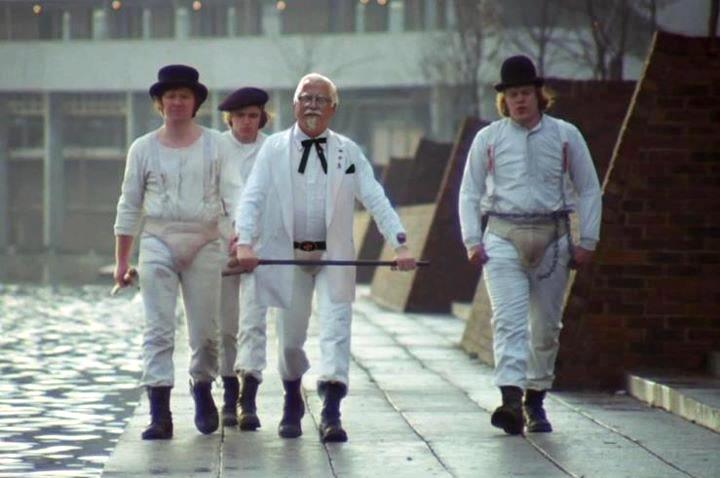 Colonel Sanders and His Three Droogs