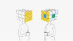Cubed Rubiks Cube Head