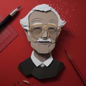 Cut Paper 3D Portrait Stan Lee John Ed De Vera