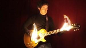 Davidlap Gibson Les Paul Hands on Fire
