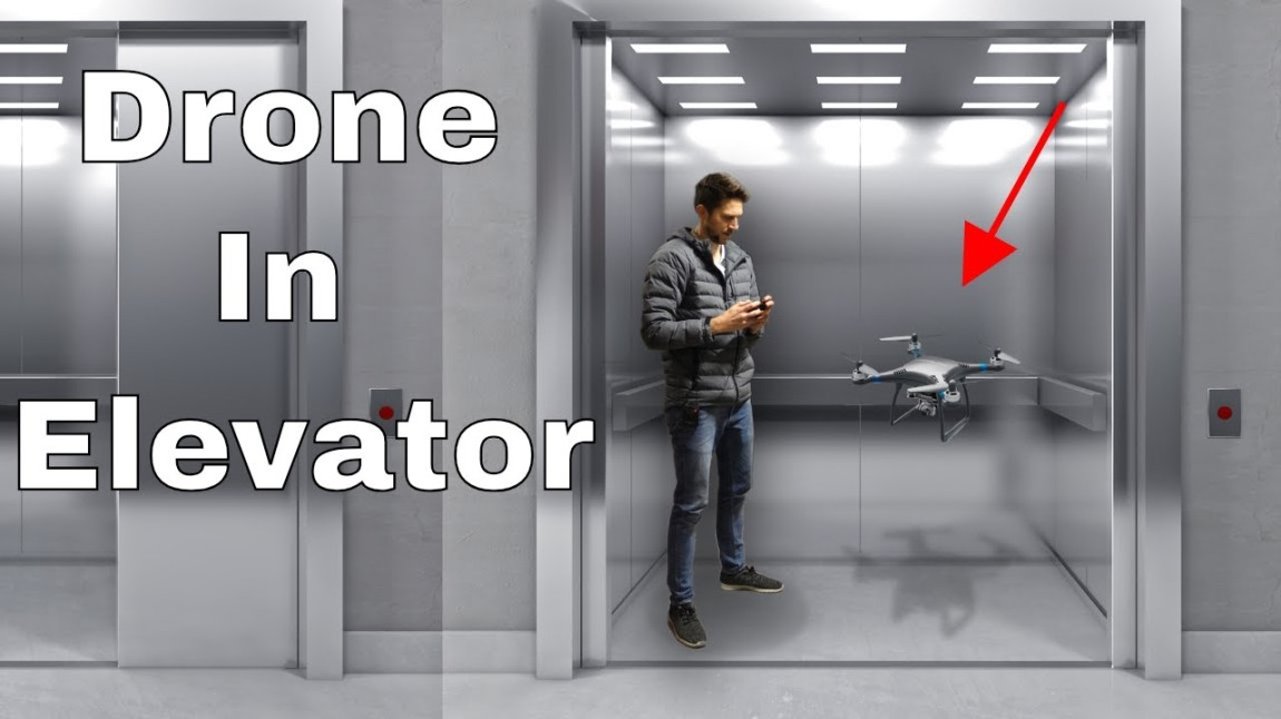 Drone in Elevator