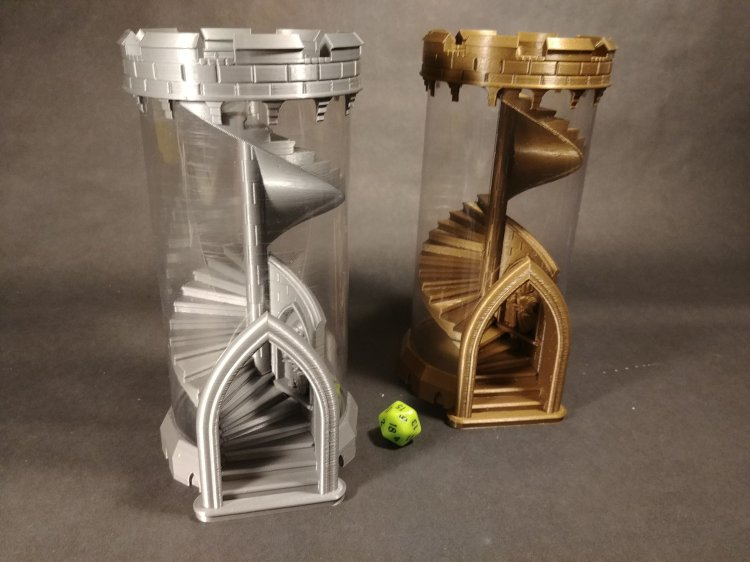 Duo of Stackable Dice Towers