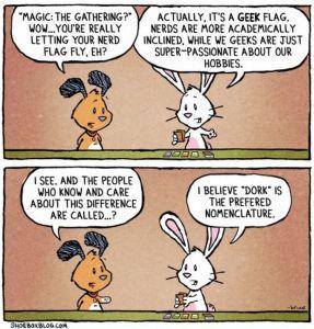 Geek vs Nerd vs Dork