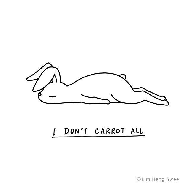 Illustrated Animals Lie Flat on the Floor With Clever Puns Describing Their Varying Moods