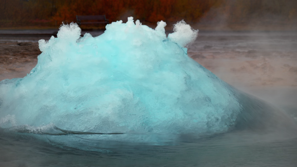 Iceland's Geyser in 4k Slow Mo