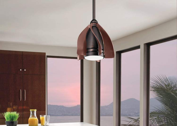 Cleverly Designed Ceiling Fans With Short Curved Blades