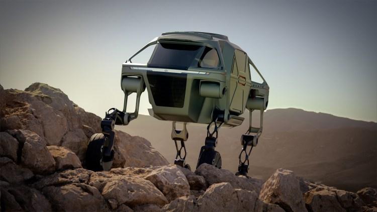 Hyundai Cradle Hyundai Elevate Walking Car Concept