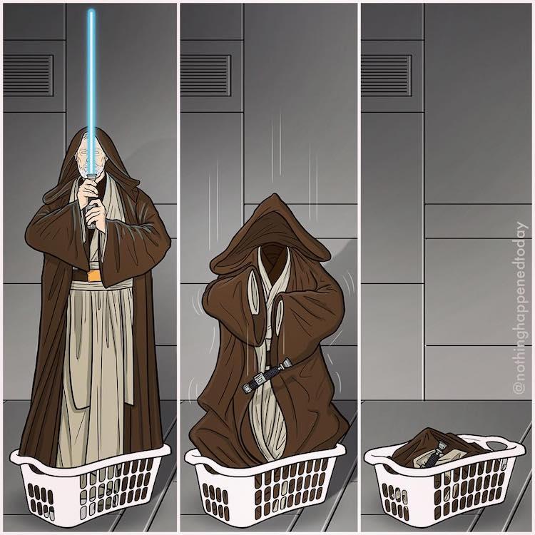 Obi-Wan Kenobi on Laundry Day