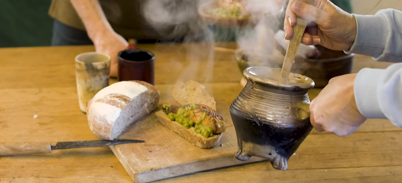 Preparing a Typical Peasant Meal From Medieval Times