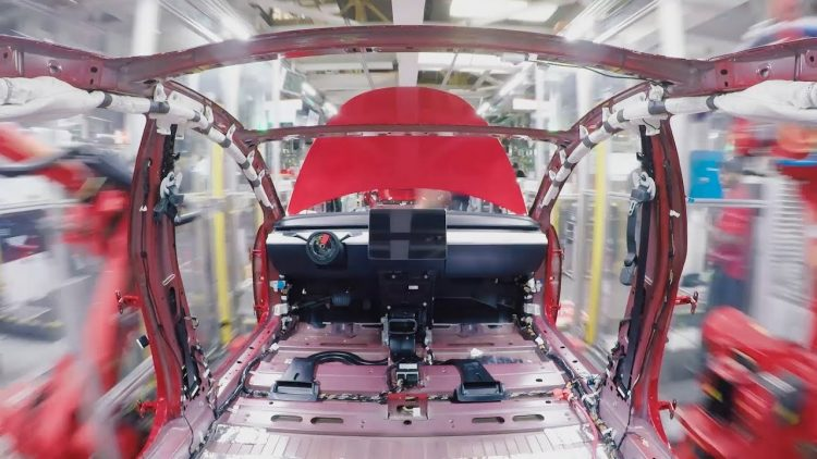Timelapse of How a Tesla Model 3 Sedan Is Assembled